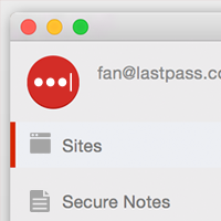 LastPass App for Mac OS Screenshot